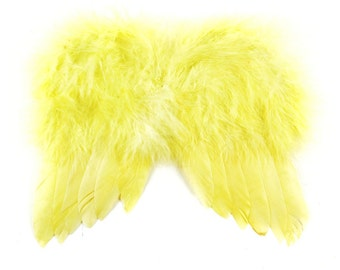 Baby Chick Yellow Angel Wings Feather Tree Easter Christmas Tree Ornament Decoration Crafts
