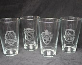 Hogwarts House Pint Glasses