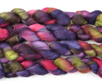 Handpainted Roving - Blueface Leicester Wool