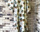 Plus Size Fleece Caftans Pine Cone Design
