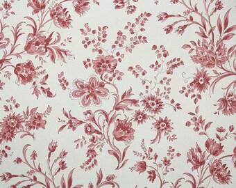 1930s Vintage Wallpaper - Pink Floral Chintz