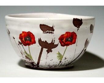 Poppy Bowl in white or speckled glaze