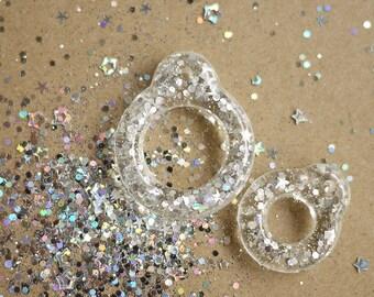 Twiggy Twiggy Sliver Glitter Pull Ring  PR03-16
