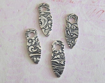 4 Small Tapestry Drop Charms 3662S