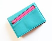 Womens Wallet, Personalized Women's Leather Wallet, Wallet with Coin Pocket, Small Trifold Wallet, Gift for Her, The Frances Wallet in Teal