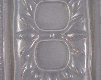 Resin Mold Outlet  Cover Plate Sunburst Sun Flower Design