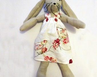 Rabbit / Bunny Soft Toy - Children's doll / Stuffed Animal / Easter Gift