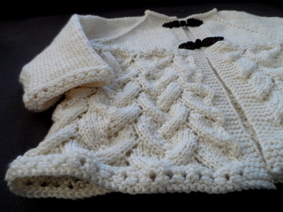 Knitting Pattern Lace Jacket : Shell lace jacket Baby Jacket Lace Cardigan top down PDF