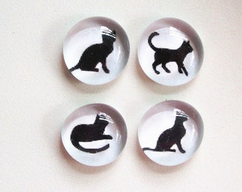 SALE - Good Kitty Magnets - slightly seconds - set of 4