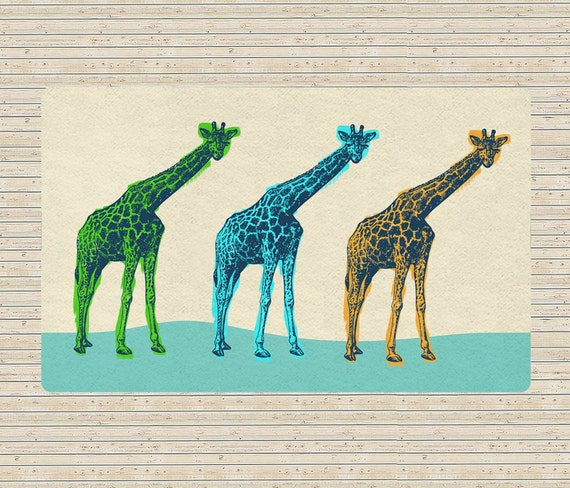 Giraffes Rug Area Rugs Accent Rugs Decorative Rugs Living