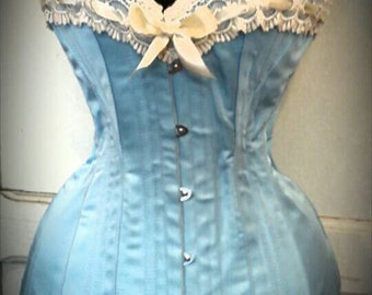 Powder Blue Edwardian Corset Custom Made Just for You