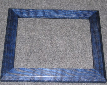 8x10 Curly Red Oak with Blue Dye Picture Frame