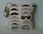 Wet Bag Cloth Diaper Wet Bag- Mustache