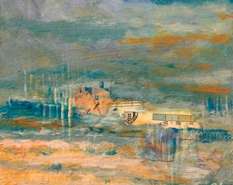 Oceans Apart - Original Mixed Media Painting