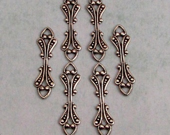 Fold Over Bail, Antique Silver,  6 Pc. AS321