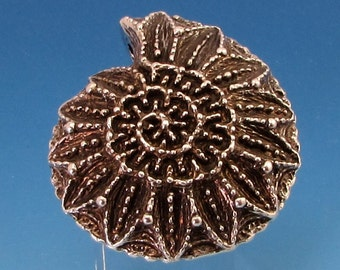 Sparkling Nautilus Shell Pendant, 44 mm, M363
