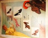1950's Ladies Home Journal Shoe Advertisement Vitality Shoes, Ferris, Fawn Yolanda, Margo, Vitality Shoe Company , Sealy Mattress,