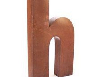 Letter H Industrial Salvage Art Alphabet