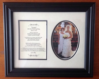 Mother of the bride personalized framed wedding gift