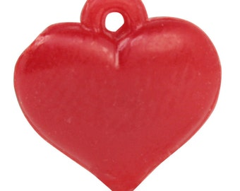 Vintage Red Hearts - German - 24 peices - IV3-2454