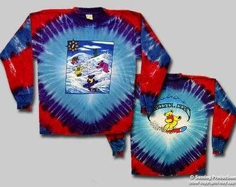 Grateful Dead  Snowboarding Dancing Bears Tie Dye LONG Sleeve Shirt  Size Large
