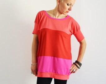 Patchwork t shirt , Women shirts,long t shirt,Tee shirts for women,Long shirts,T shirts for women,mini dress,t shirt dress