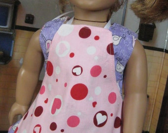 Reversible Apron, fits American Girl 18 Inch Dolls