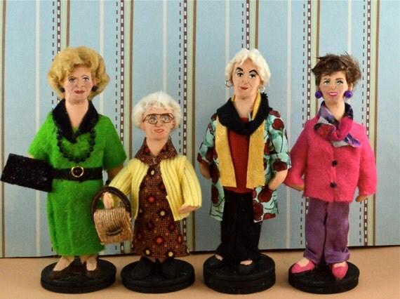 the cast of golden girls doll miniature set art