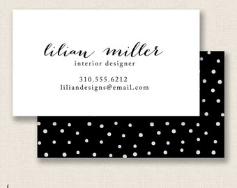 CLASSIC B&W- Double Sided - DIY Printable Business Card Template