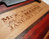 Personalized Cutting Board - Gift - Wedding, Anniversary, Custom - Monogrammed - Mahogany - FREE ENGRAVING
