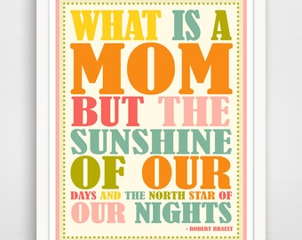 Children's Wall Art / Nursery Decor  What Is A Mom Quote print by Finny and Zook