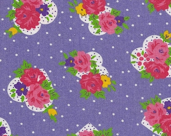 Hearts and Flowers Cotton Print Fabric