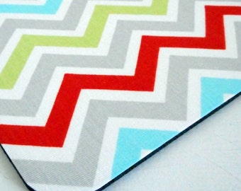 fabric mouse pad/ mouse mat/ multi chevron gray