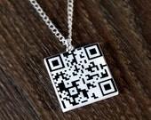 Custom QR Code Necklace