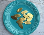 Wool Felt Gold Metallic Leaves - Great with Flowers - You Pick Your Quantity