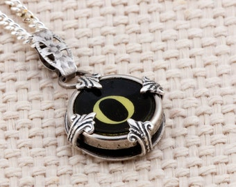 Victorian Typewriter Key Pendant and Necklace - Initial O