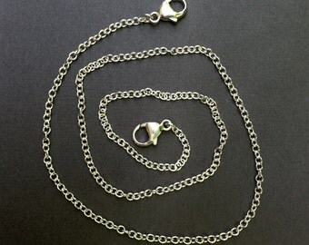 Detachable Sterling Silver Cable Chain for Link Necklaces