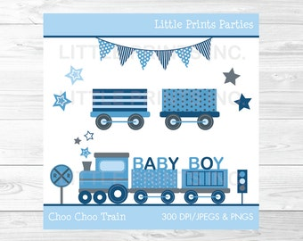 Choo Choo Train Clipart Baby Blue Train PERSONAL USE Instant Download