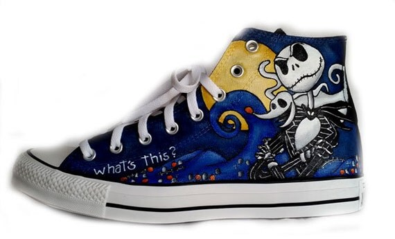 Corpse Bride Converse Shoes