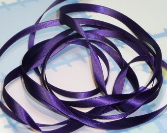 GRAPPA DouBLe FaCeD SaTiN RiBBoN, Polyester 1/4 inch wide, 5 Yards