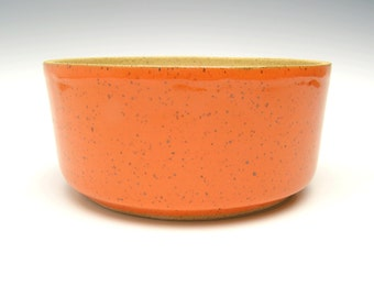 Stoneware succulent planter pot orange Cactus planter Bonsai planter handmade Ceramic pottery Herb plant pot Bulb planter pot 7 x 3 1/4 p-20