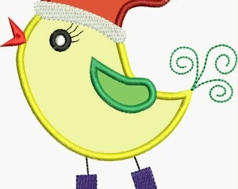 Winter Chick Applique designs