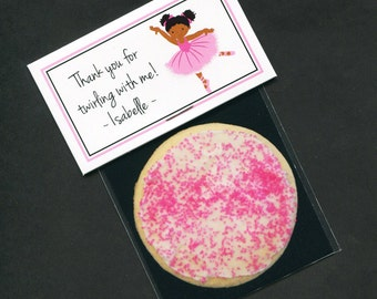 Ballerina Birthday Party Favors - Favor Bag - Bag Labels - Goody Bag - Treat Bag - Candy Bag - Personalized Label - 20