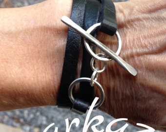 Leather wrap and Toggle me