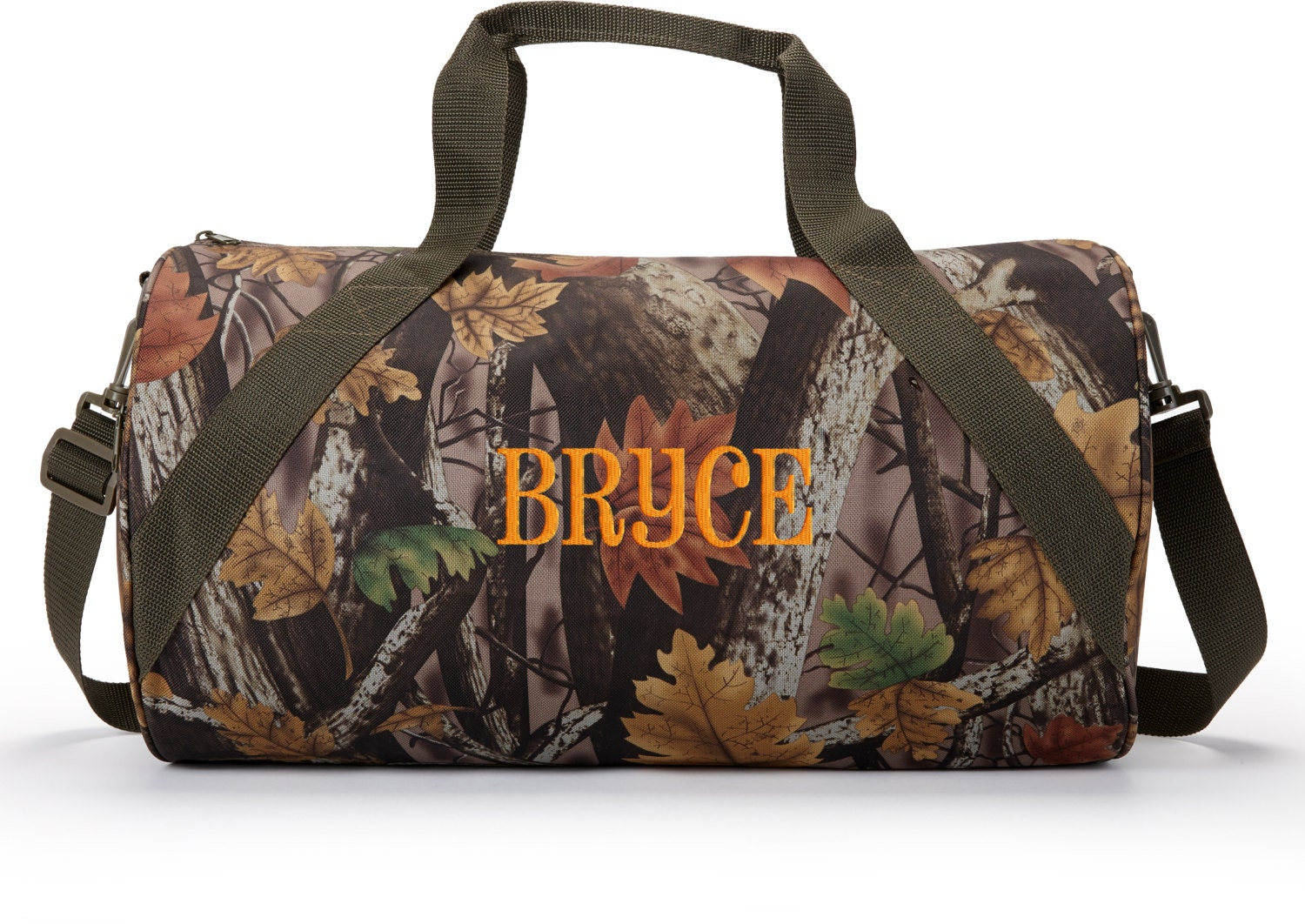 Personalized duffle bag natural camo boys sports monogrammed
