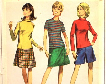 Pantskirt, Blouse and Skirt How to Sew Pattern Simplicity 7218 Bust 34