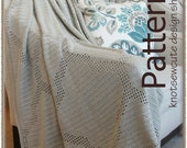 Quatrefoil Throw - Filet Crochet Pattern (PDF) - INSTANT DOWNLOAD