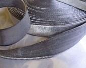 "Vintage Velvet Blue Slate Rayon Ribbon (7/8"")"