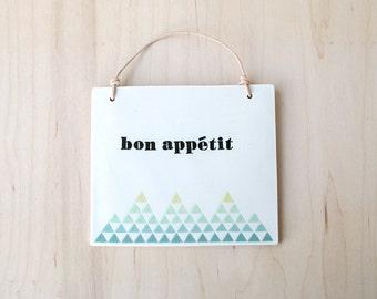 bon appétit plaque : SALE