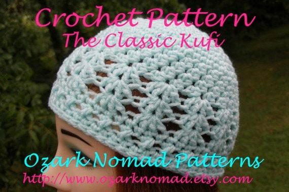 Immediate Download - PDF Crochet Pattern for the Kufi Style Beanie Cap - Unisex